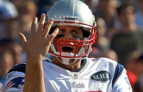 Tom Brady threw four interceptions in the game. That matched his total from all of the 2010 season.