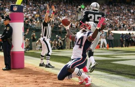 Deion Branch, held without a catch last week, had just one reception this week. But it was a 4-yard touchdown.