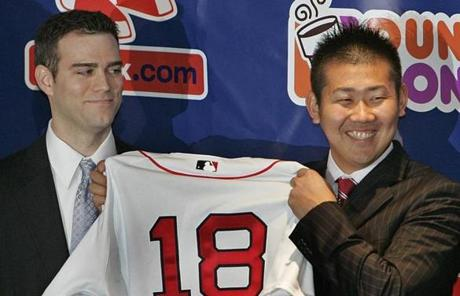 In December 2006, Epstein made a splash when he signed Japanese pitcher Daisuke Matsuzaka to a six-year deal.
