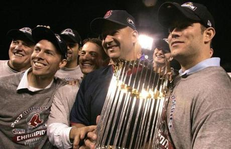 Epstein and the Red Sox celebrated their second World Series title in four years in 2007.