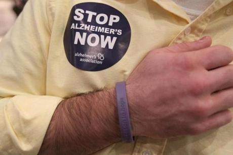 Dec. 12, 2010: Jeff Vincent wears an Alzheimer's bracelet of hope.
