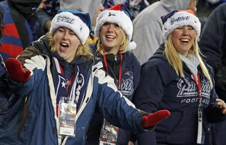 The fans had a good time as the Patriots romped over the Chiefs 34-3.