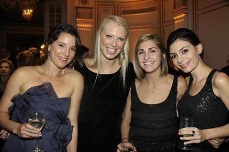 From left: Julie Helmes, Kate Danforth, Jennifer Tatelman, all of Marblehead, and Alexandra Markos of Nahant.