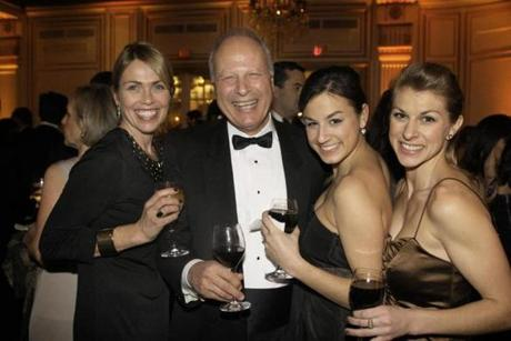 From left: Heidii Evriviades of South Boston, her father-in-law, Andreas Evriviades of Belmont, and his daughters Christina Evriviades of New York and Anne-Marie Evriviades of South Boston.