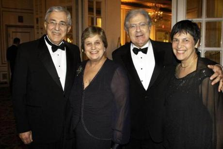 From left: Dr. Jim and Diane Triant of Wellesley and Dr. Arthur and Tina Papas of Weston.