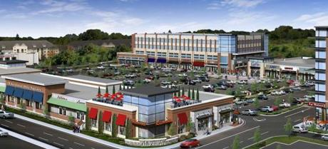 The Wegmans store will serve as an anchor for the Chestnut Hill Square project, shown in an artistic rendering, in Newton.