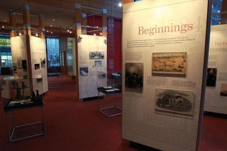 A Bank of America historical exhibit at the institution's Federal Street headquarters in Boston.