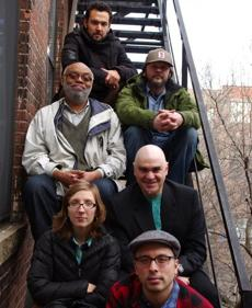 Top to Bottom- Tomas Fujiwara, Jim Hobbs, Bill Lowe, Ken Filliano, Mary Halvorson, Taylor Ho Bynum Photo Credit:Rachel Bernsen 23bynum