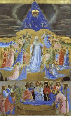 The Death and the Assumption of the Virgin about 1432 -Fra Angelico, Italian, about 1390/95 1455 15gardnergems