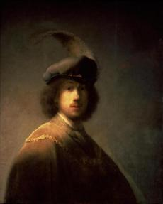 Self-Portrait, Aged 23 1629 Rembrandt, Dutch, 1606-1669 15gardnergems