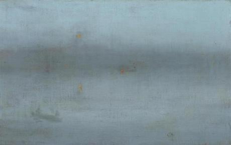 Nocturne, Blue and Silver: Battersea Reach about 1872-78 James McNeill Whistler, American, 1834-1903 15gardnergems