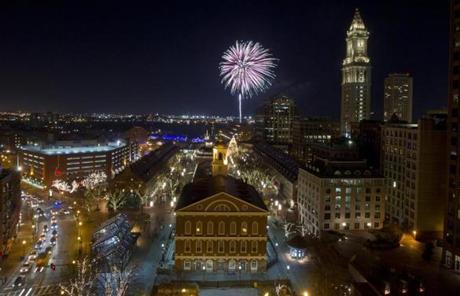 Boston Fireworks New Years Eve