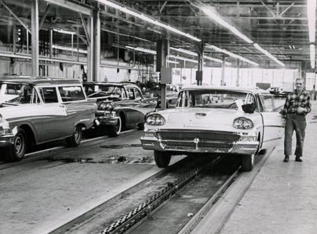 Ford stopped making cars at its assembly plant in Somerville in 1958.