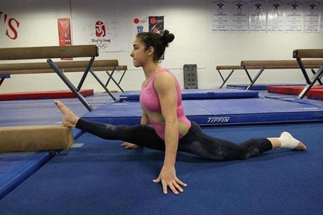 Raisman is completing her senior year at Needham High online because of her aggressive training schedule.  ''I'm still going to go to the prom and graduation,'' she said, ''so I kind of get the best of both worlds.''