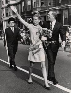 10/12/1968 Mayor Kevin White and his wife, Kathryn, at Columbus Day Parade in East Boston.