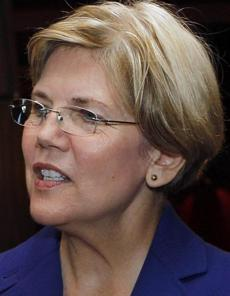 """We have the opportunity to set an example.""  — Elizabeth Warren, Democrat hoping to unseat Brown."