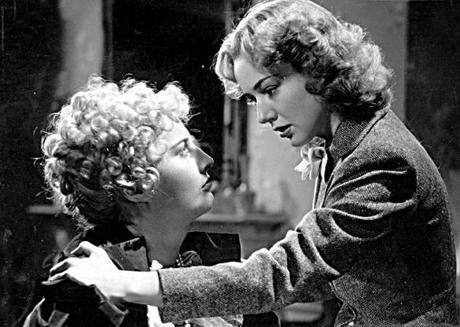 MOVIES/FILM: Published in NYT 11/15/98 - ARTS & LEISURE section Published Caption: Barbara Stanwyck, left, and Anne Shirley in ''Stella Dallas.'' (Photofest) 22separation