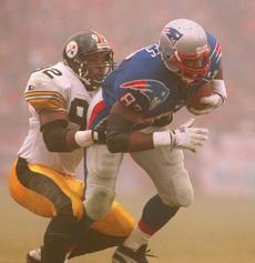 Ben Coates and the Patriots won a home playoff game for the first time in franchise history on Jan. 5, 1997.