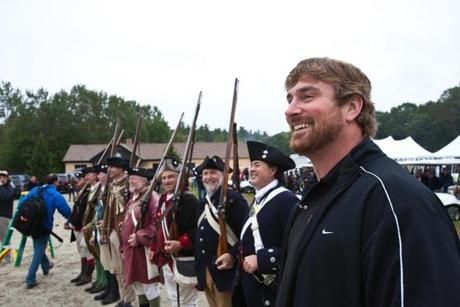 The Matt Light Celebrity Shoot-Out is a popular charity event — and a natural fit for the musket-toting Patriots Militia.