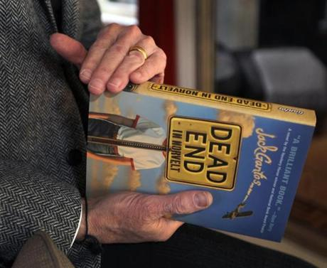 "Boston, MA - 01/26/12 - Portraits and pics of Jack Gantos, Boston-based children's and young readers' author who just won a Newbery Medal for his latest book, ""Dead End in Norvelt."" - (Globe Staff Photo / Barry Chin), section: Lifestyle, reporter: James Sullivan, slug: gantos_pics, LOID: 5.0.799289278."