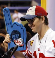 Eli Manning is trying to go 2-0 against the Patriots in Super Bowls.