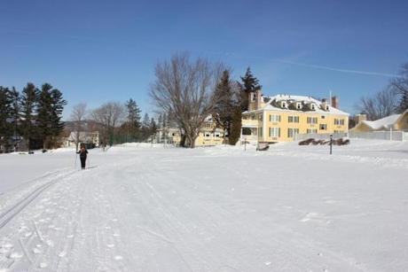 Cross-country skiing near Bethel Inn's Nordic Center.