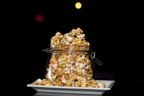 FOR G. Somerville, MA 2/6/2012 Spicy caramel corn. The backbar by journeyman is photographed in Union Square in Somerville, MA on Monday, February 6, 2012. (Yoon S. Byun/Globe Staff) Section: G Slug: 15cocktails Reporter: Devra First LOID: 5.0.826285213
