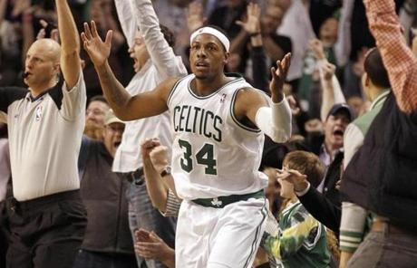 Paul Pierce has spent all of his 14-year NBA career with the Celtics, earning one championship and nine All-Star invitations along the way.