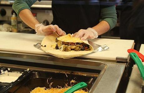 Moe's offers taco salads and fajitas as well as more standard fare like burritos, quesadillas, and tacos.