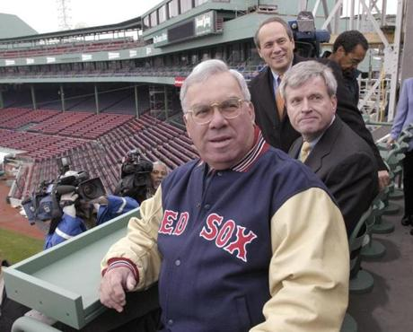 Boston Mayor Thomas Menino got a tour of the wall seats on April 3 as the Red Sox showed off the new section.