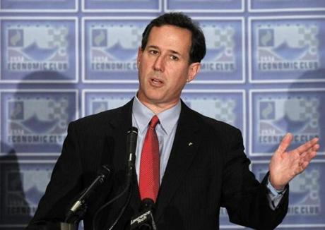 RICK SANTORUM: Disclosed last week that he earns roughly $1 million a year.