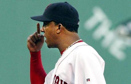 Red Sox starter Pedro Martinez engaged in an argument with Jorge Posada after the dispute at second base between Todd Walker and Garcia.