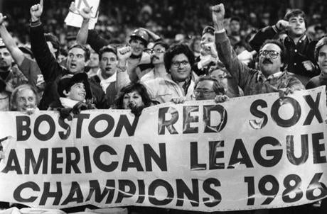 Red Sox fans saluted the team for returning to the World Series for the first time since 1975.