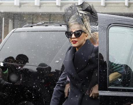 Lady Gaga arrived at Harvard University to launch her Born This Way Foundation.