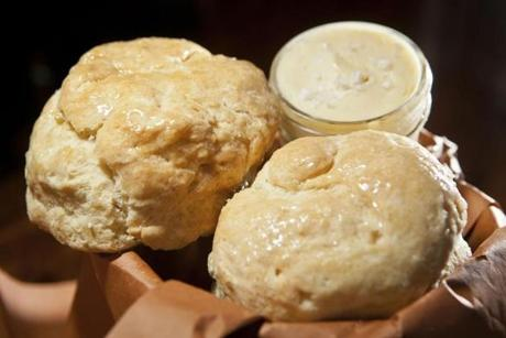 A bucket of biscuits from Sweet Cheeks.