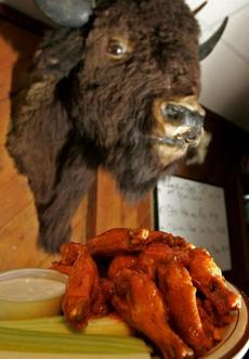 A plate of Buffalo wings at Buff's Pub in Newton.