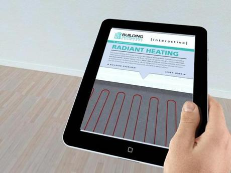 Pointing an iPad at walls and floors will yield energy-saving data.