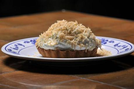Coconut cream pie with Lime whipped cream at Myers + Chang.