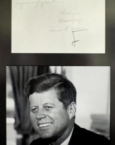 A letter written by a young David Ferriero to President Kennedy was recovered from the presidential libraries.