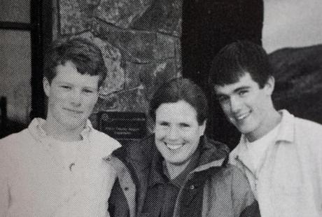 A photo in the Buckingham, Browne, and Nichols yearbook had the caption: ''Mom—Thanks for everything! I don't think I would have made it without you.''