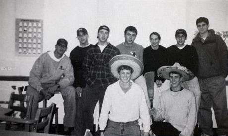 Joseph Kennedy III, wearing white shirt in front row, along with members of the BB&N Spanish Club.