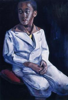 "Samuel Joseph Brown's ""Boy in the White Suit"" at the Williams College Museum of Art."