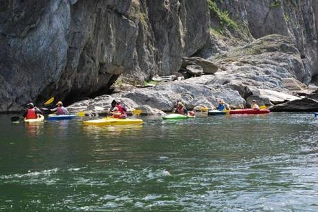 On Vermont's Mad River, Clearwater Sports rents kayaks to outdoor enthusiasts.