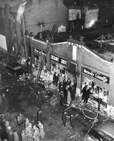 Later in the night after Holy Cross' victory, a fire killed more than 500 people at the nearby Cocoanut Grove nightclub.