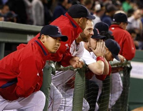 There was little to be happy with in the Red Sox dugout.
