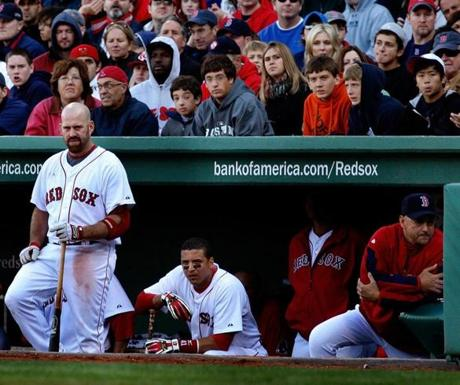 The mood was grim inside -- and behind -- the Red Sox dugout.