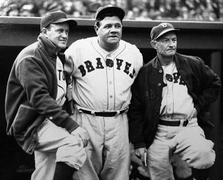 A year after his final game with the Yankees at Fenway Park, Babe Ruth returned to Boston for one season with the Braves, when he appeared in 28 games.