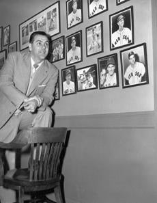 New Red Sox manager Lou Boudreau took his place in Fenway Park on Dec. 1, 1951.