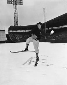 When the Red Sox were snowed out on April 14, 1953, Mel Parnell was forced to pitch snowballs instead of baseballs.