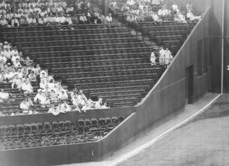 There was a wide swath of empty seats in left field on Aug. 11, 1956.